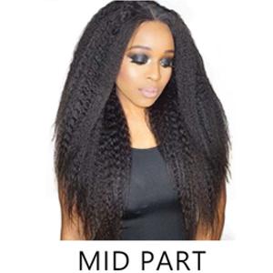 mid part u part wigs