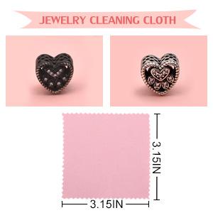 Pink Polishing Cloth 8x8cm