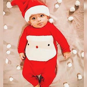 infant boys girls christmas santa romper outfits
