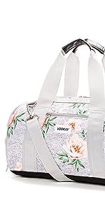 vooray burner gym duffel sport small compact shoe compartment women handbag locker duffel duffle
