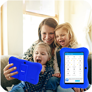 parent control - Contixo V9-3-32 7 Inch Kids Tablet, 2GB RAM 32 GB ROM, Android 10 Tablet, Educational Tablets For Kids, Parental Control Pre Installed Learning Game Apps WiFi Bluetooth Tablets For Kids, Dark Blue