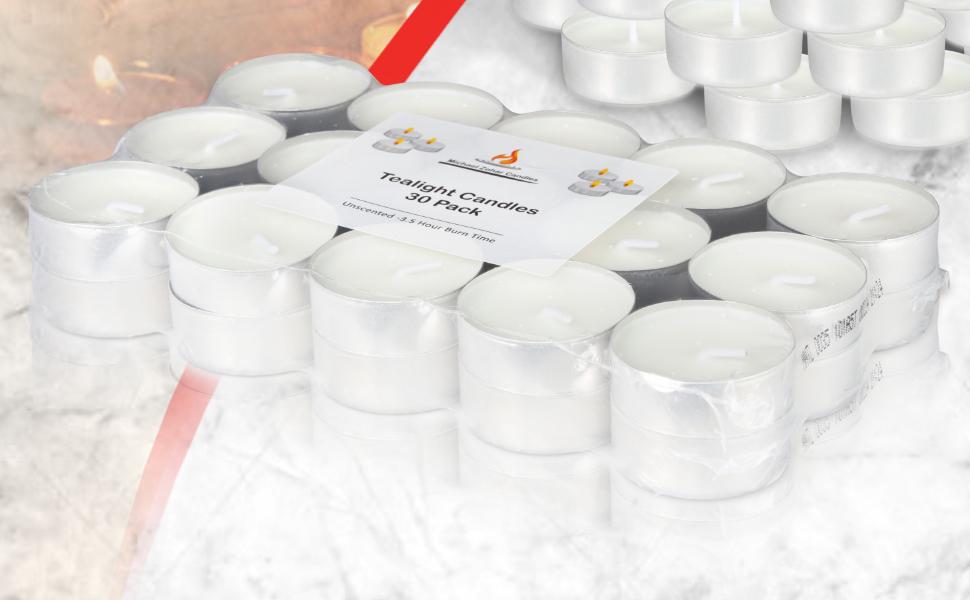 teacandles shabbat dinner romantic 30 pack usa tealight united clear wax
