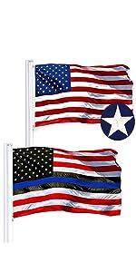 USA + Blue Lives Matter SS Combo