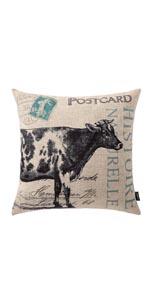 Trendin Farm Cow Pillow Cover