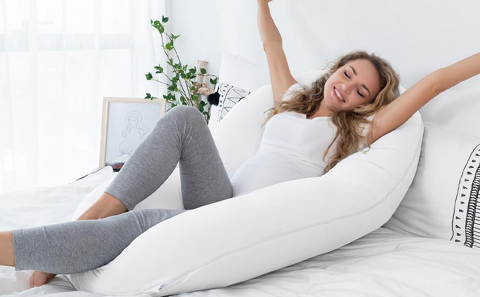 c shape pregnancy pillow full body pillow