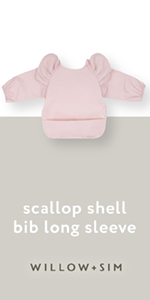 Willow + Sim scallop shell long sleeve bib