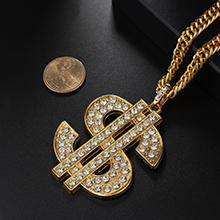 dollar sign necklaces