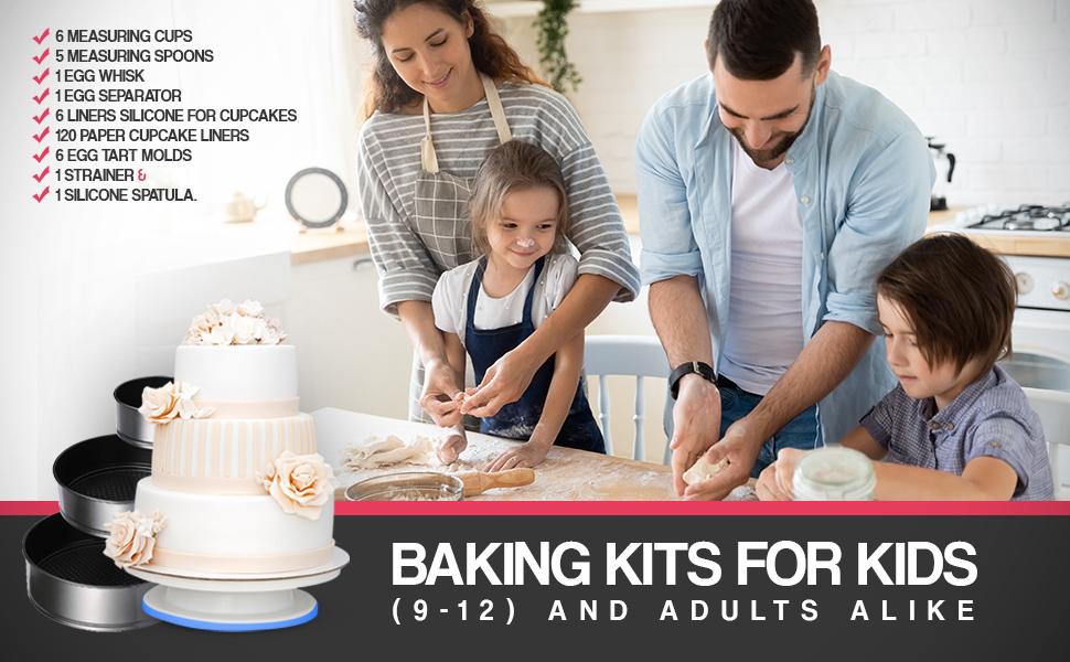 Kit de decoración para hornear, kit de decoración de pasteles, kit de suministros, suministros de horneado, kit de decoración de pasteles.