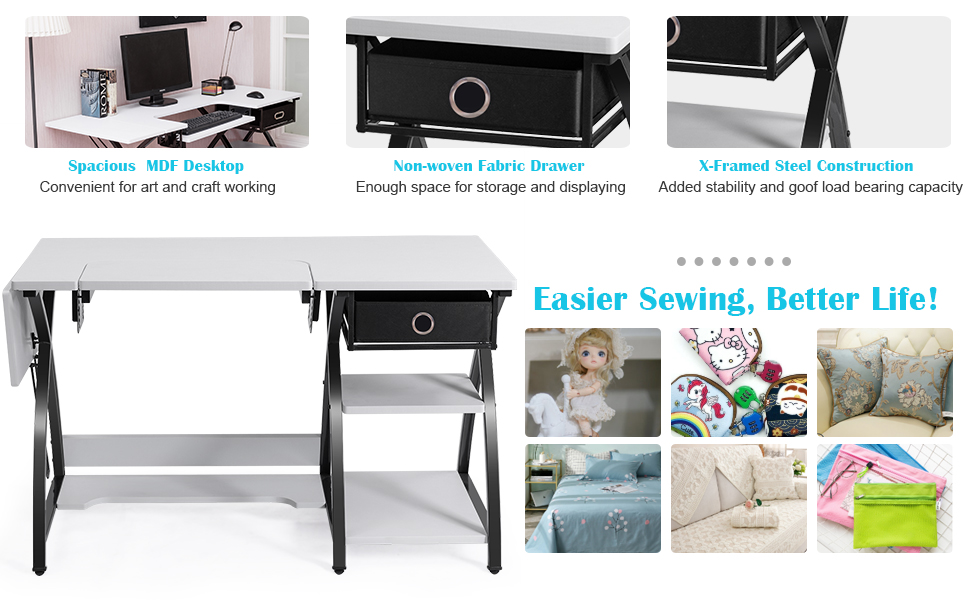 Adjustable Sewing Craft Table