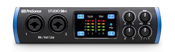 PreSonus Studio 26c 2x4, 192 kHz, USB-C Audio Interface, 2 Mic Pres - 4 Line Outs