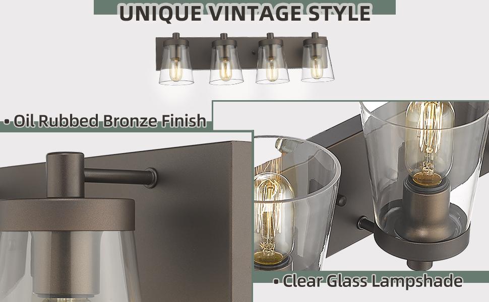 oil rubbed bronze bathroom vanity light