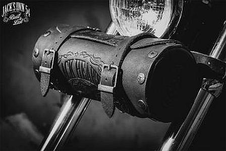 Jack S Inn 54 Scumbag Motorradrolle Braunes Rindleder Koffer Rucksäcke Taschen