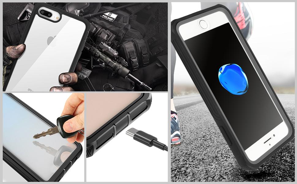 AICase Funda iPhone 6 Plus/iPhone 6S Plus/iPhone 7 Plus/iPhone 8 ...