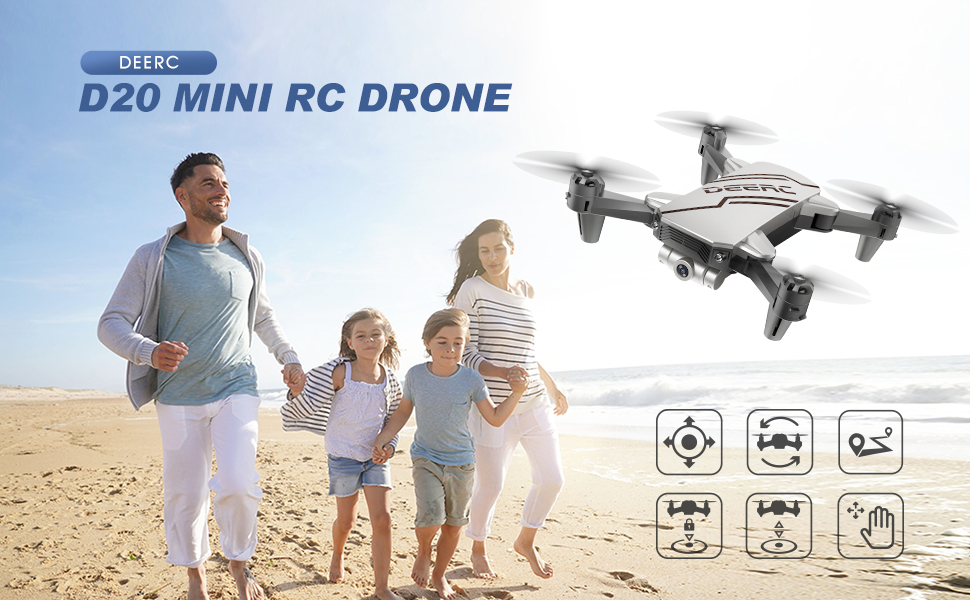 D20 RC MIni Drone  DEERC D20 Mini Drone for Kids with 720P HD FPV Camera Remote Control Toys Gifts for Boys Girls with Altitude Hold, Headless Mode, One Key Start, Tap Fly, Speed Adjustment, 3D Flips 2 Batteries c1c9ae99 8d0b 459e bdd9 2cb23933b9fc