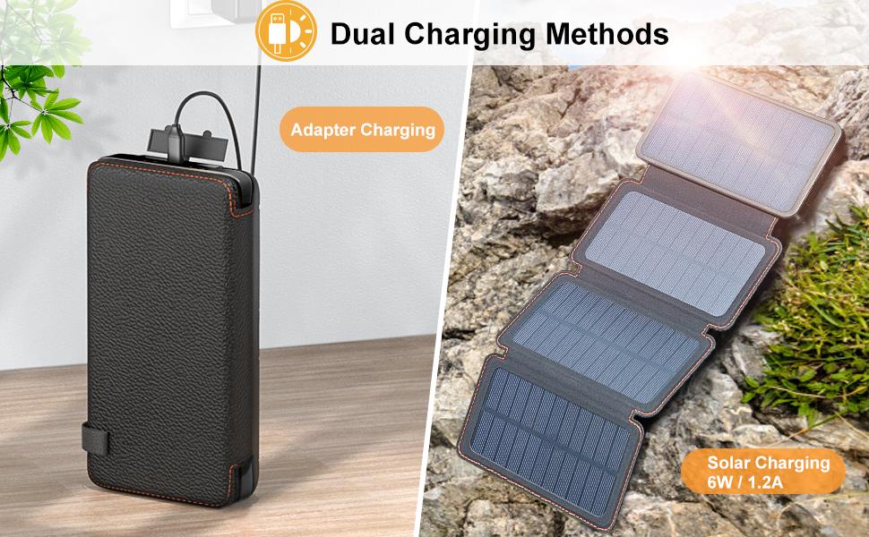 portable solar battery pack