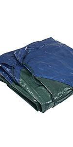 heavy-duty multi-purpose blue/green yard tarp