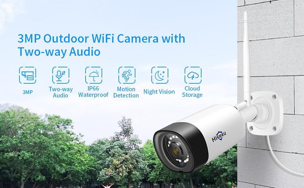 Hiseeu 3MP Wireless Security Camera