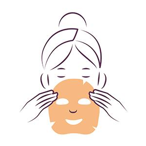 Anti-rimpel vochtinbrengend gezichtsmasker