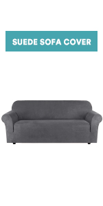 1 piece suede sofa cover for 3 seat cushion cover couch cover