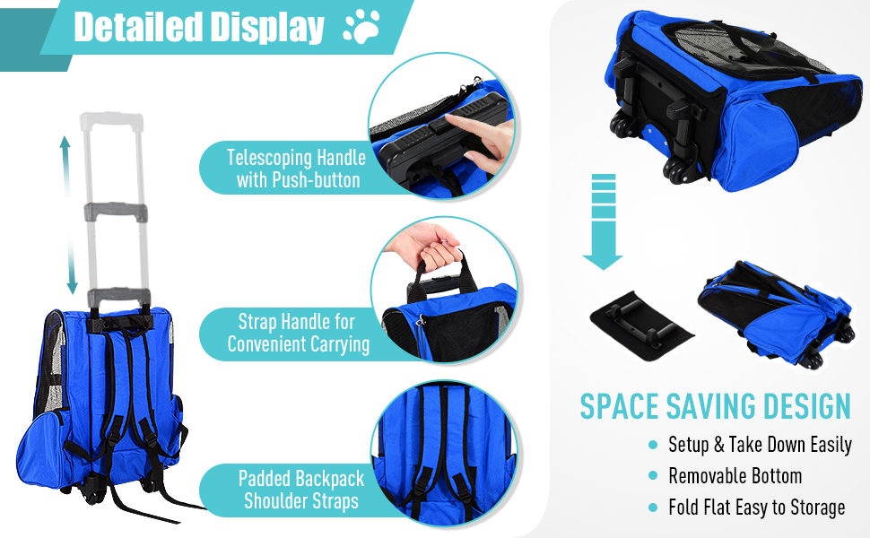 2 in 1. It can be used as trolley bag or backpack