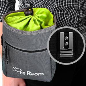 dog treat bag with belt clip