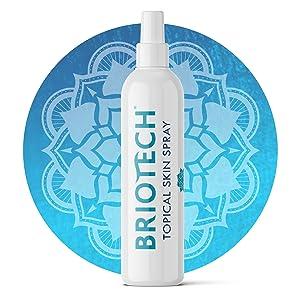 briotech topical skin spray bottle logo