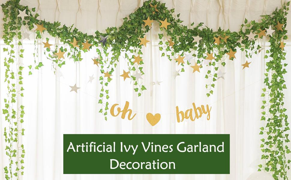 Fake ivy garland vines decoration