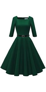 3/4 Sleeves Vintage Dress