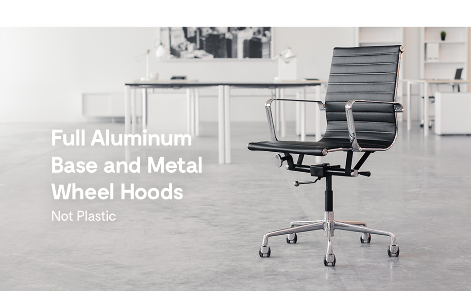 aluminum base and chair