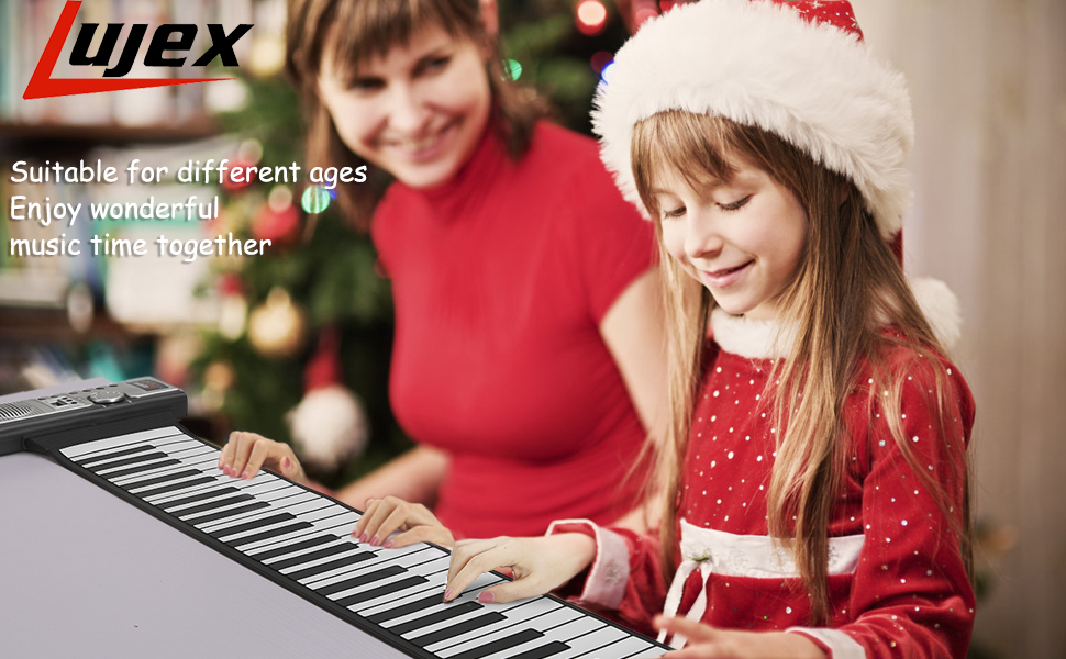 Lujex Roll Up Piano Portable