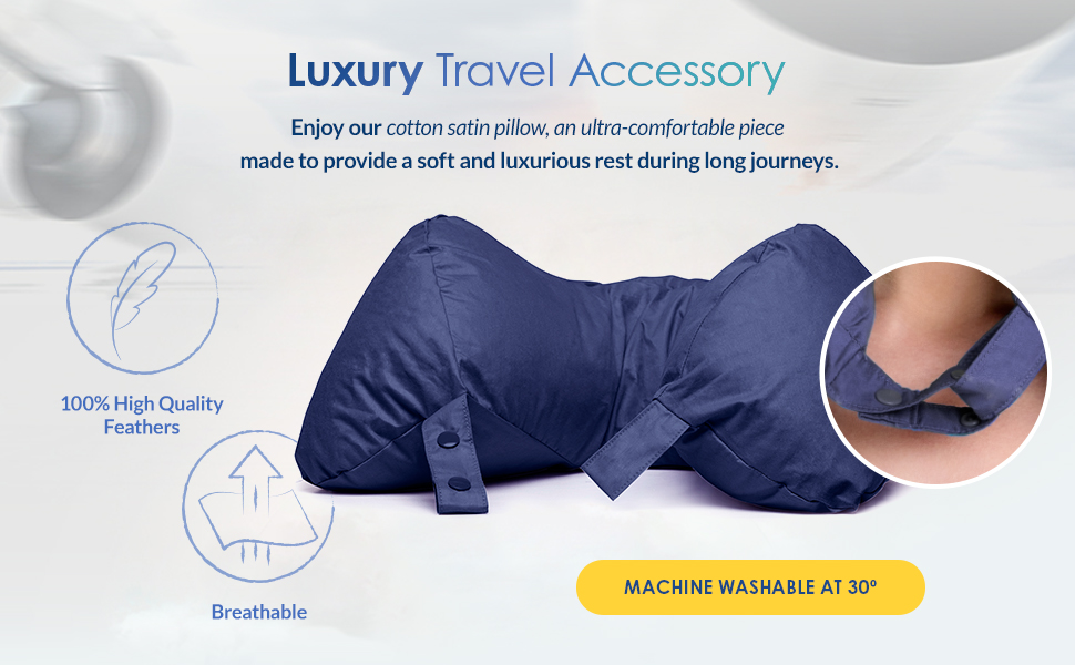Enjoy our cotton satin pillow, an ultra-comfortable piece