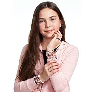 make it real juicy couture pink and precious bracelet making kit for girls tweens jewelry crafts