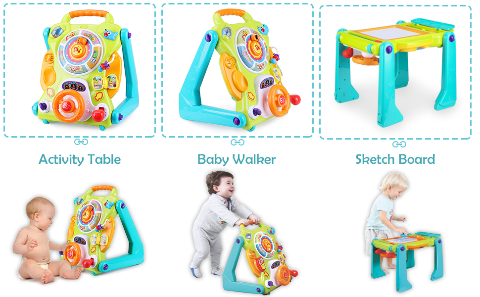 Amazon.com: iPlay, iLearn 3 in 1 Baby Sit to Stand Walkers ...