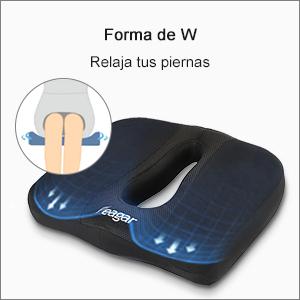 Cojin Coxis de Espuma Memoria Portátil para Hemorroides, Hernias, Cojines para espalderas y sillas Ortopedico, cojín para Coxis Alivie la Fatiga y el ...