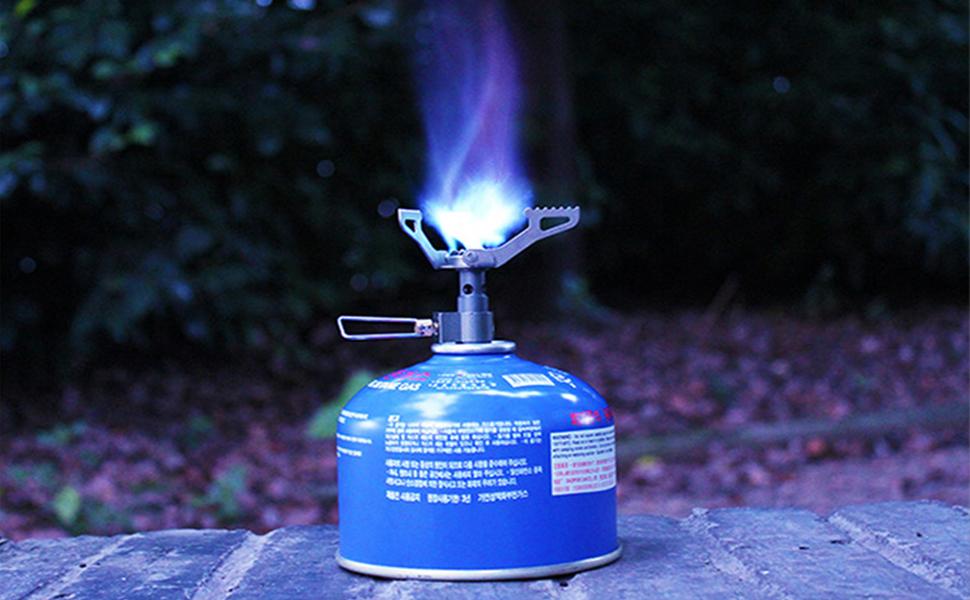 BRS-3000T 25g Ultra-Light Titanium Alloy Campingkocher Gaskocher Outdoor Kocher Au/ßenkocher Gasherd Miniatur Portable Picknick