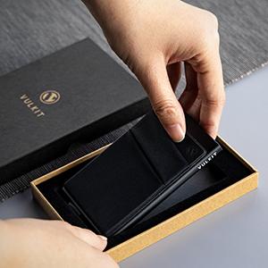 Card Holder Money Pocket Pop Up Wallet RFID Blocking Slim Metal Bank Card Case Holds 5 Cards Notes