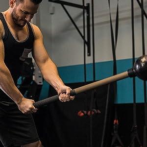 fitness workout crossfit mace bell maceball ball macebell battle ropes hammer sledge club indian
