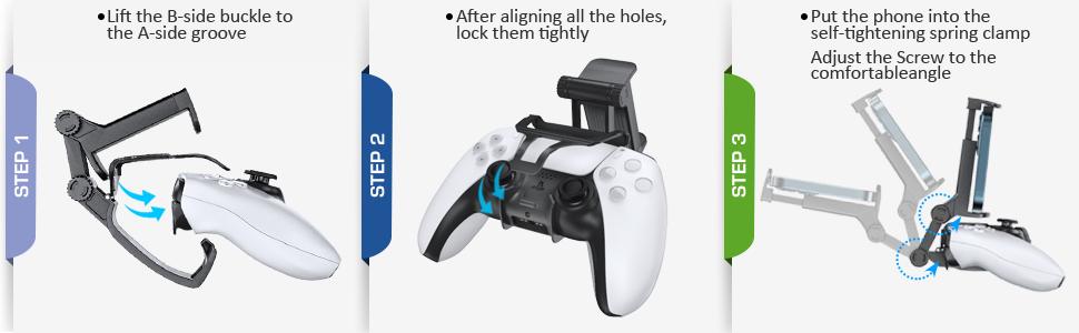 PS5 controller remote clip