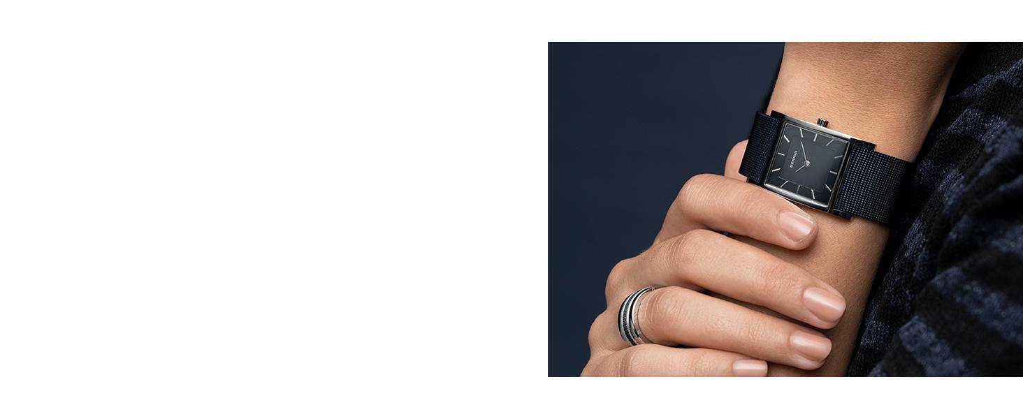 Bering Men Women Watches Sapphire Glass Watches Slim Behring Skagen Classic Quartz Stainless Steel