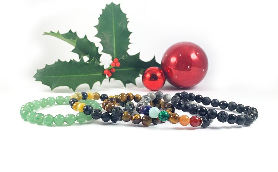 Domog, bracelet pierre naturelle, bracelet 7 chakras, bracelet noir
