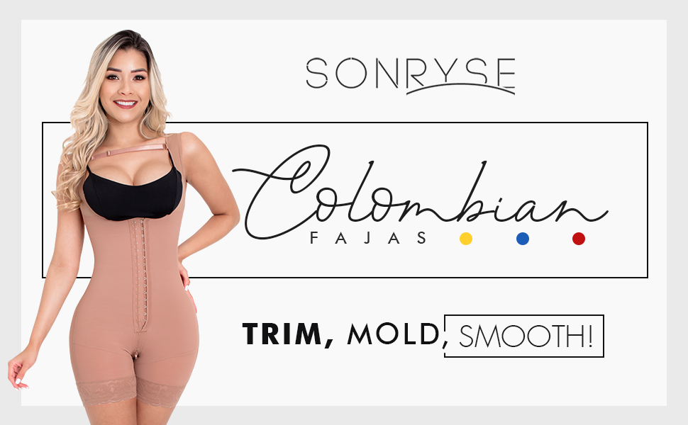 Sonryse 211BF Extra Firm Shapewear for Women | Fajas Colombianas para Mujer