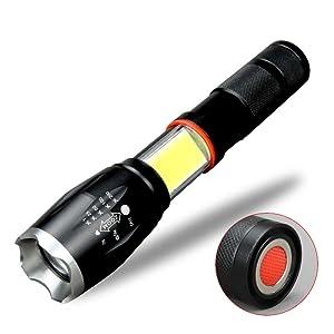 LED Flashlight with COB