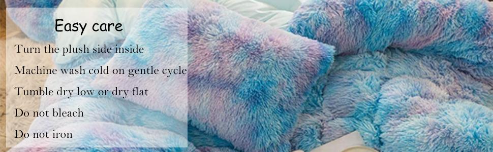 luxury plush duvet cover set shaggy bedding set queen