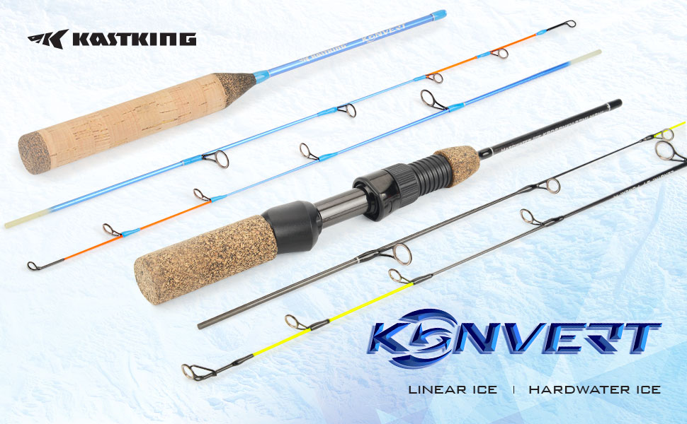 KastKing Kovert Twin Tip Ice Fishing Rods