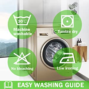 washing care for pillow cover set