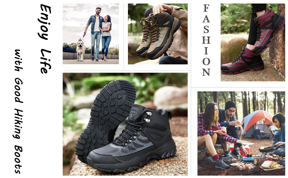 Walking Boots Men Women Lightweight Hiking Shoes Outdoor Ankle Boots high rise