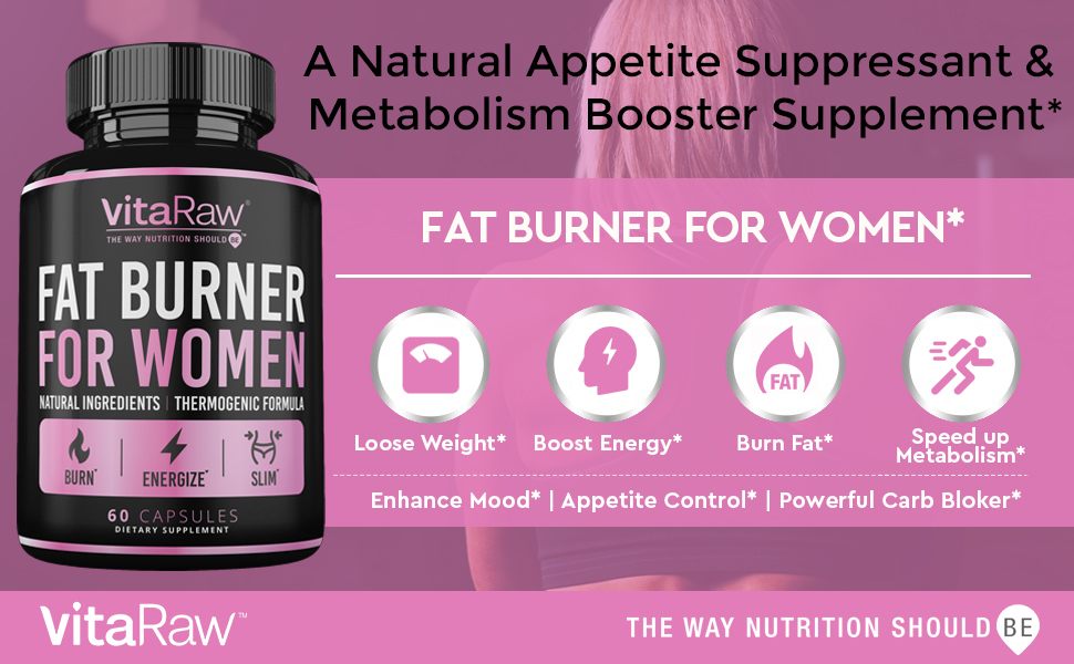 Weight Loss Pills for Women Fat Burner Natural Appetite suppressant Metabolism Booster Supplement