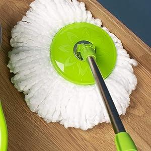 Adjustable rotary mop head
