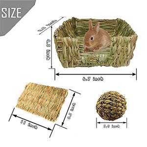 Natural Grass Hay Mat Pets Grass Ball Toys