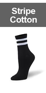 stripe crew socks,cotton casual socks,athletic stripe socks,black and white stripe socks